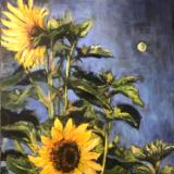 Sunflowers in Moonlight