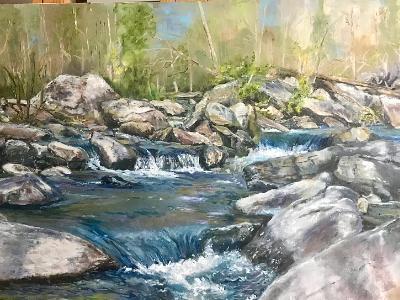 French broad river, Chimney Rock N.C.