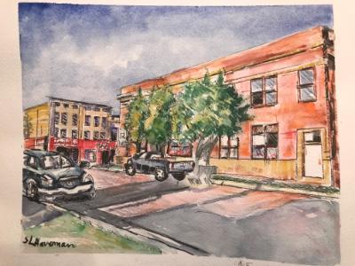 Quiet Fennville downtown