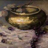Brass Bowl and Grapes. kvdm