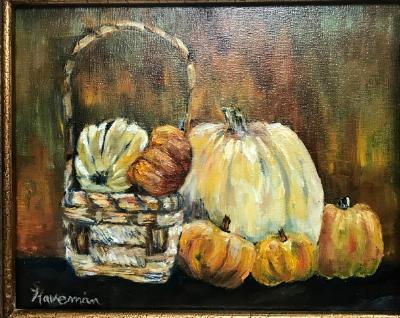 Pumpkins and Basket -SGH