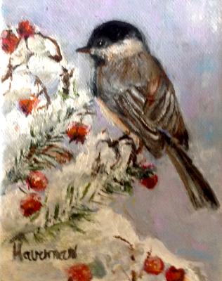 Chickadee oil 4 x 6 sold