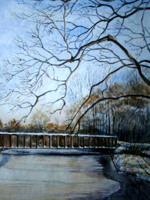 Lionel bridge in March -archival giclee prints only