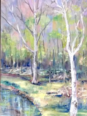 Sycamore Bend -Rabbit River 12x36 SGH