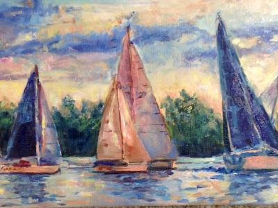 Sold-Sail Boat Race- Lake Mac