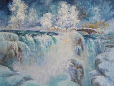 Winter's Diamonds, Niagara Falls in Winter Time