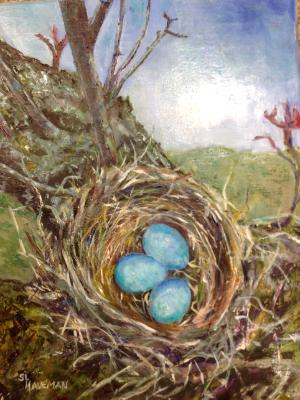 Three Blue Eggs