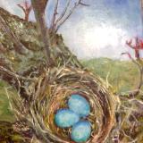 Three Blue Eggs