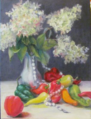 Peppers, Pearls and PeeGees (Hydranges)